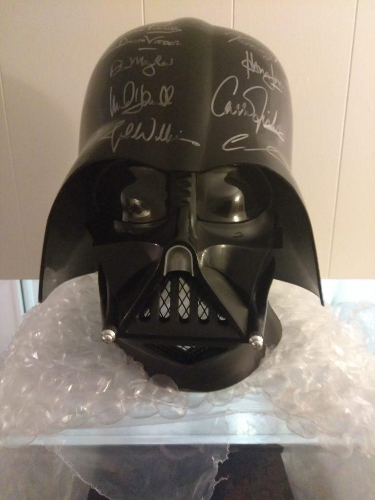 Exclusive Collectable: Star Wars Darth Vader Autographed Helmet
